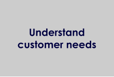 Understand customer needs