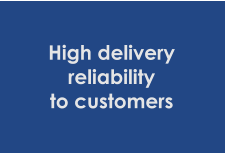 High delivery reliability to customers