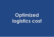 Optimized logistics cost